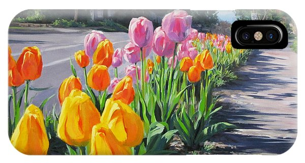 Street Tulips IPhone Case