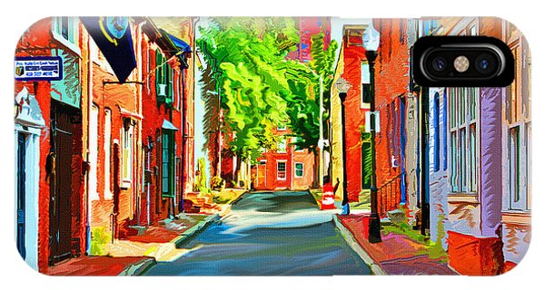 Streetscape In Federal Hill IPhone Case