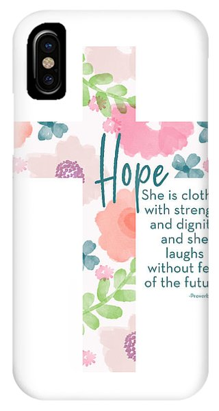 Cross iPhone X Case - Strength And Dignity Cross- Art By Linda Woods by Linda Woods