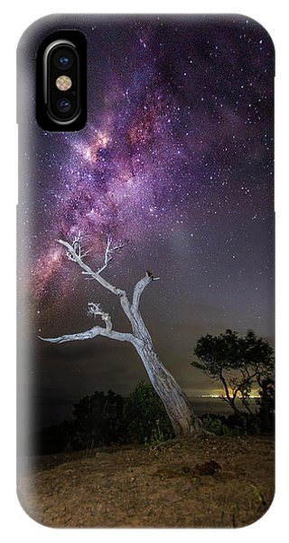 Striking Milkyway Over A Lone Tree IPhone Case