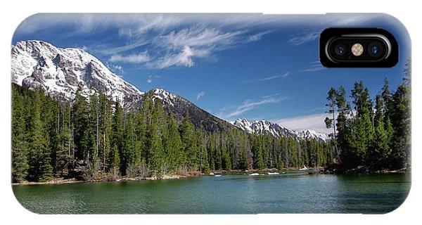 String Lake And Mt. Moran IPhone Case