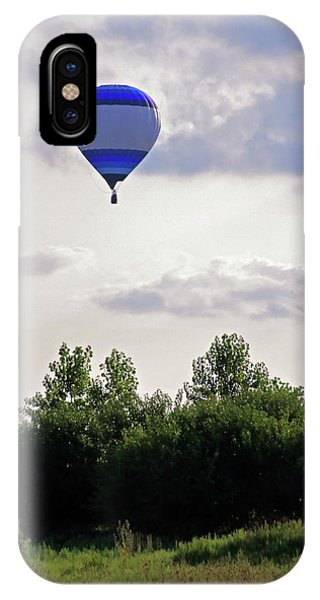 IPhone Case featuring the photograph Striped Balloon by Angela Murdock