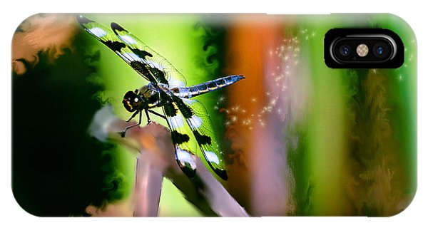 Striped Dragonfly IPhone Case