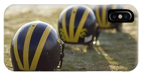 Striped Helmets On A Yard Line IPhone Case