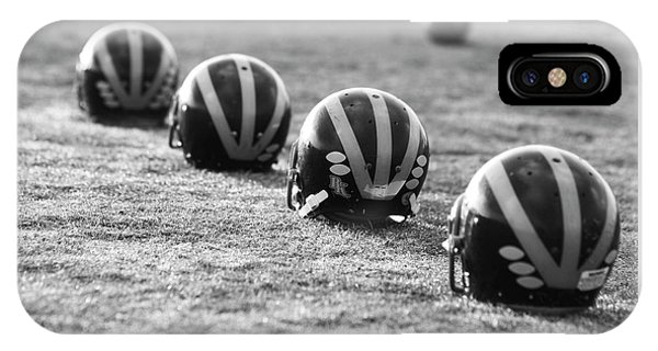Striped Helmets On The Field IPhone Case