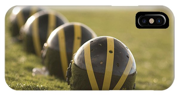 Striped Helmets On Yard Line IPhone Case