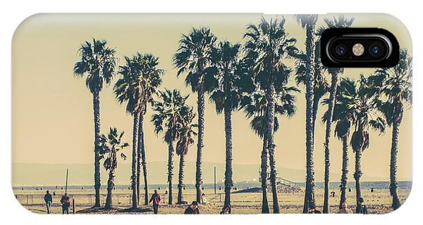 Beautiful Sunrise iPhone Case - Stroll Down Venice Beach by Az Jackson