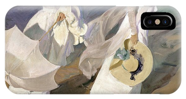 Beautiful iPhone Case - Strolling Along The Seashore by Joaquin Sorolla y Bastida