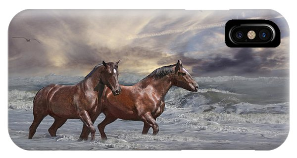 Strolling On The Beach IPhone Case