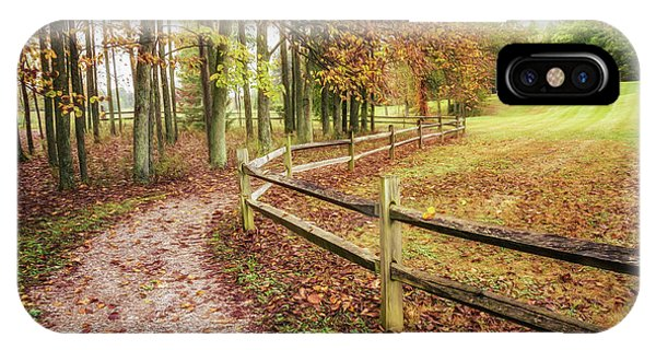 Hiking Path iPhone Case - Strolling Through Autumn by Tom Mc Nemar