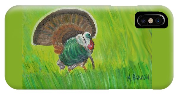 Strutting Turkey In The Grass IPhone Case