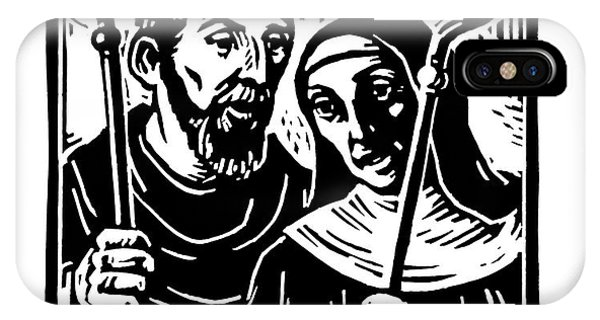 Sts. Benedict And Scholastica - Jlbas IPhone Case
