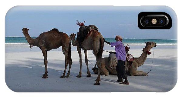 Exploramum iPhone Case - Stubborn Wedding Camels by Exploramum Exploramum