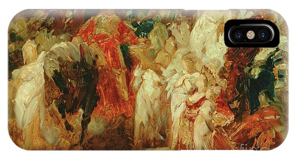 King Charles iPhone Case - Study For The Entrance Of Emperor Charles V Into Antwerp In 1520 by Hans Makart