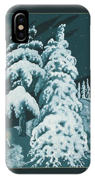 IPhone Case featuring the painting Study For Winter Trees Of Life 299 by William Hart McNichols