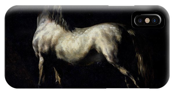 Proud iPhone Case - Study Of A Dapple Grey by Theodore Gericault