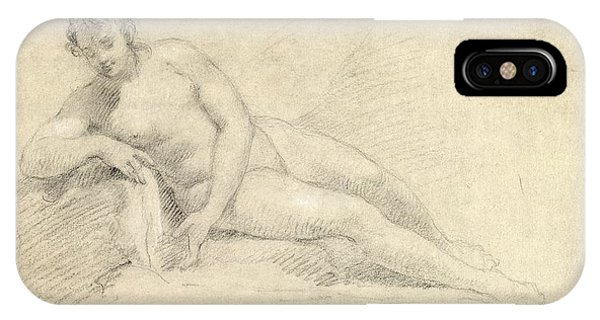 Female iPhone Case - Study Of A Female Nude  by William Hogarth