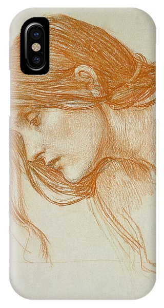 Minimal iPhone Case - Study Of A Girls Head by John William Waterhouse