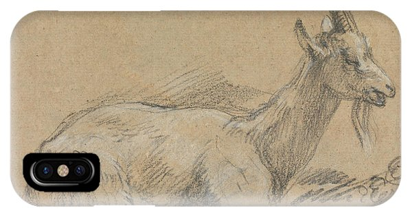 Goat iPhone Case - Study Of A Goat by Thomas Gainsborough