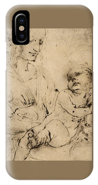Study Of A Madonna And Child IPhone Case