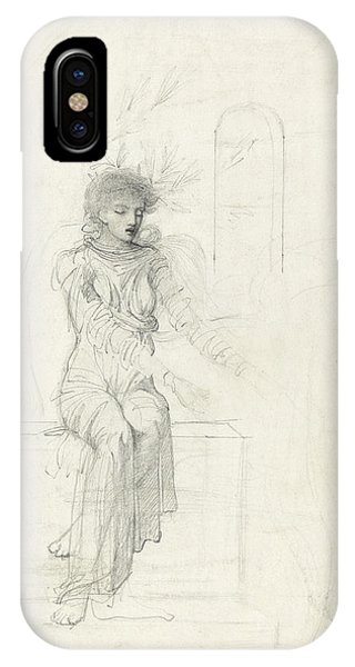 Study Of A Seated Woman IPhone Case