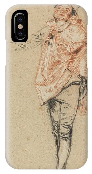 Baroque iPhone Case - Study Of A Standing Dancer With An Outstretched Arm by Antoine Watteau