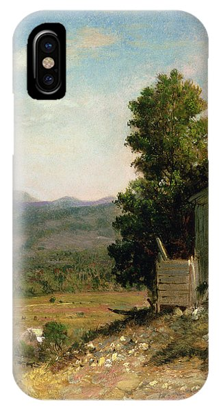 New England Barn iPhone Case - Study Of Old Barn In New Hampshire by George Loring Brown
