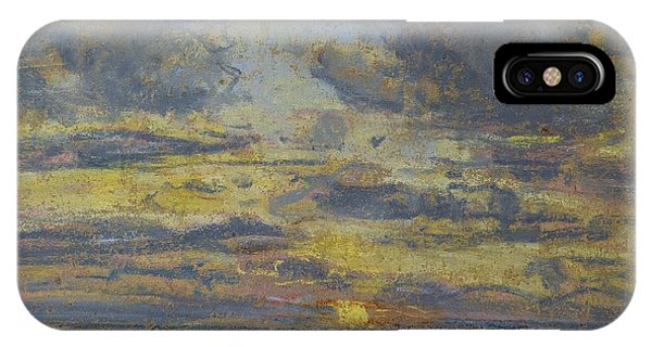 1862 iPhone Case - Study Of The Sky With Setting Sun by Eugene Louis Boudin