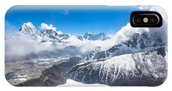 Stunning Panorama Over Gokyo In Nepal IPhone Case