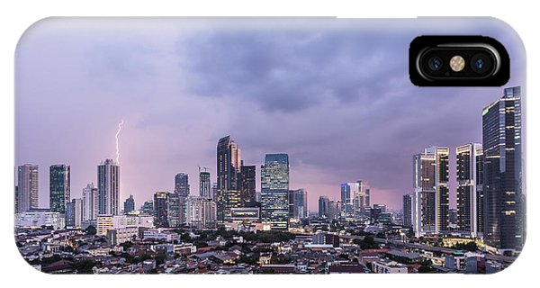 Stunning Sunset Over Jakarta, Indonesia Capital City IPhone Case