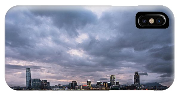 Stunning Sunset Over Kowloon In Hong Kong IPhone Case
