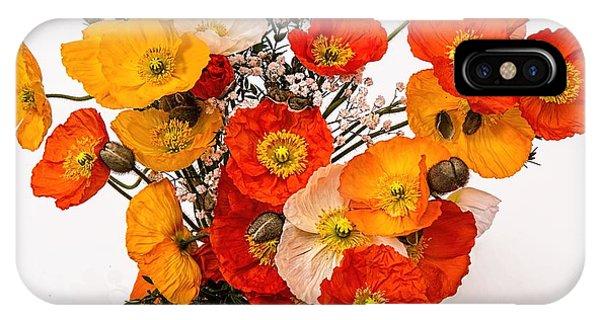 Stunning Vibrant Yellow Orange Poppies  IPhone Case