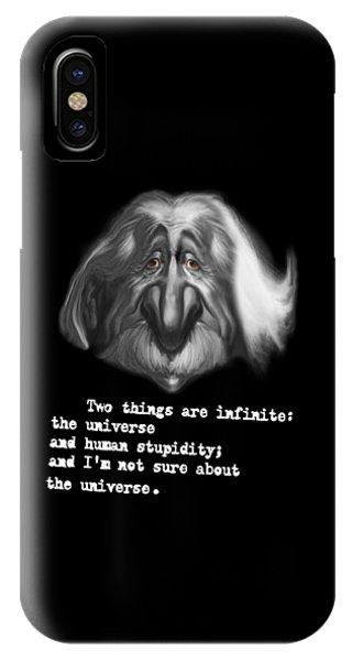 Dark Humor iPhone Case - Stupidity by Andrei SKY