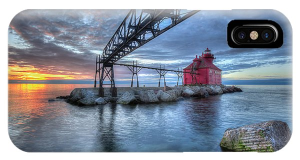 Sturgeon Bay Lighthouse Sunrise IPhone Case