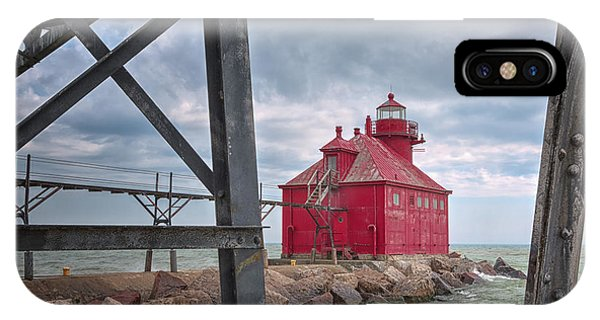 iPhone Case - Sturgeon Bay Ship Canal North Pierhead Lighthouse 2 by Margie Hurwich