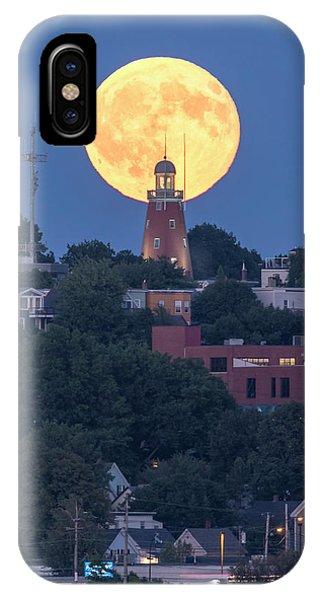 Sturgeon Moon Over Portland Observatory IPhone Case