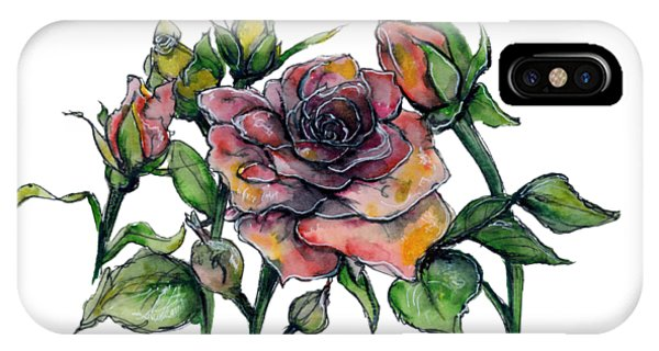 Stylized Roses IPhone Case