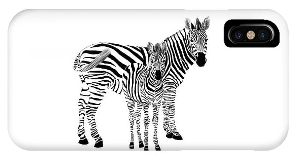 Stylized Zebra With Child IPhone Case
