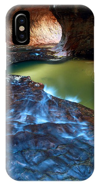 IPhone Case featuring the photograph Subway In Zion National Park Utah by Pierre Leclerc Photography