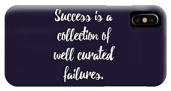Again iPhone Case - Success Is A Collection Of Well Curated Failures by L Bee