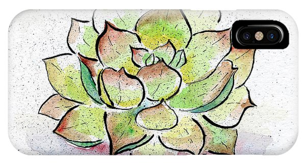 Cactus iPhone Case - Succulent by Diane Thornton