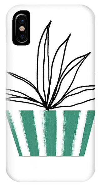 Succulent iPhone Case - Succulent In Green Pot 3- Art By Linda Woods by Linda Woods