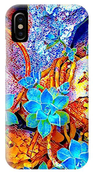 Succulents On River Rock IPhone Case