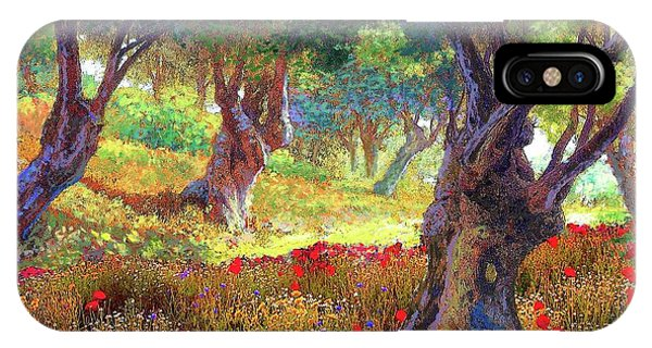 Provence iPhone Case - Tranquil Grove Of Poppies And Olive Trees by Jane Small