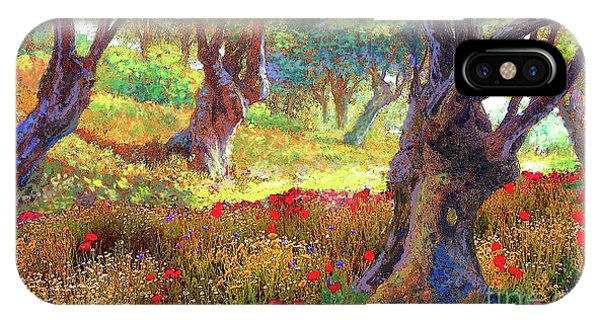 Sun iPhone Case - Tranquil Grove Of Poppies And Olive Trees by Jane Small