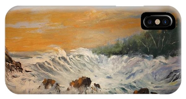 Sudden Turbulence At Suset IPhone Case