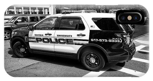suffolk university campus police patrol vehicle Boston USA IPhone Case
