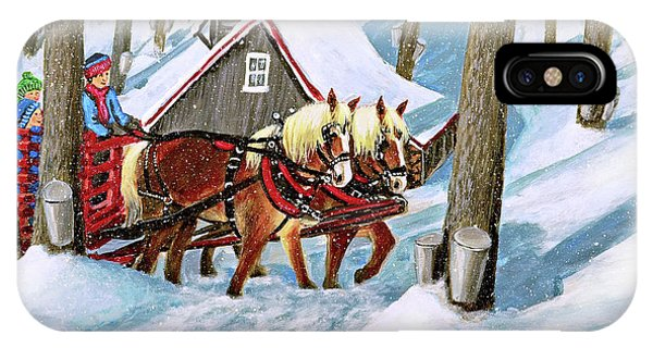 Sugar Bush Sleigh Ride Randonne En Traneau Sucre IPhone Case
