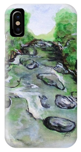 IPhone Case featuring the painting Sugar Creek, Boyhood Memory by Clyde J Kell