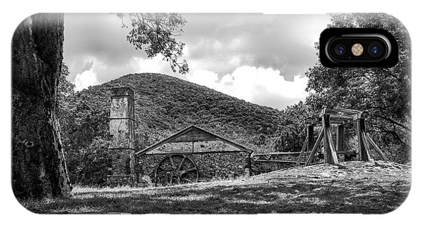 Sugar Plantation Ruins Bw IPhone Case